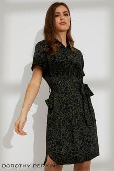 Dorothy Perkins Petite Leopard Print Shirt Dress
