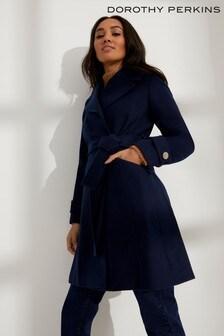 Dorothy Perkins Petite Belted Wrap Coat