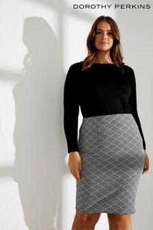 Dorothy Perkins Curve Jacquard Pencil Skirt
