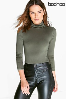Boohoo Turtle Neck Long Sleeve Top