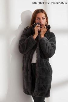 Dorothy Perkins Faux Fur Coat