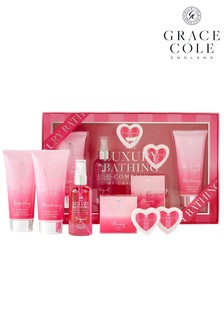 Grace Cole The Luxury Bathing Company Showstopper Body Care Gift Set In Rhubarb, Vanilla And Bergamot