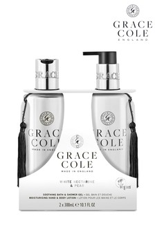 Grace Cole White Nectarine & Pear Body Care Duo