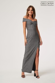 Girls On Film Lurex Maxi Dress