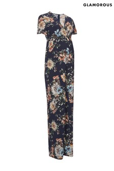 Glamorous Bloom Maternity Flared Leg Jumpsuit