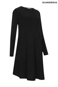 שמלת הריון מבד ג'רזי בגזרת סווינג של Glamorous Bloom