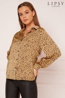 Lipsy Spot Collared Shirt