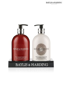 Baylis & Harding Black Pepper & Ginseng Hand Wash And Lotion Duo Set