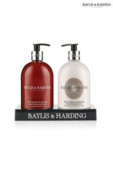 Baylis & Harding Black Pepper & Ginseng Hand Wash And Lotion Duo Set