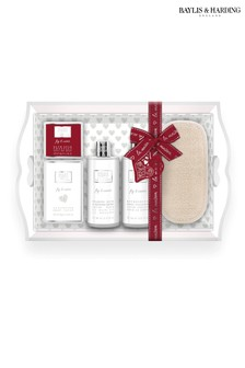 Baylis & Harding La Maison Fig And Cassis Luxury Wooden Tray Set