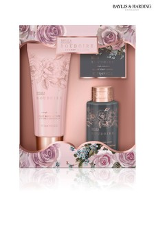 5496c0080d3b5 Baylis   Harding Boudoire Midnight Rose Petals Bathing Essentials Trio Gift  Set