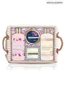 Baylis & Harding Fuzzy Duck Cotswolds Floral Collection Luxury Wicker Basket Gift Set