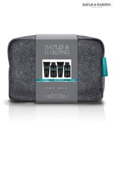 Baylis & Harding Skin Spa For Men Amber And Sandalwood Wash Bag Set
