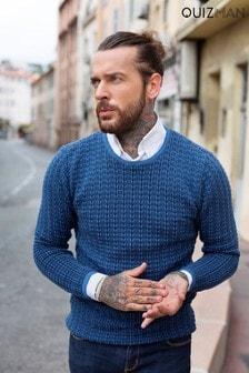 Quizman Pullover mit Rundhalsausschnitt und horizontalem Muster