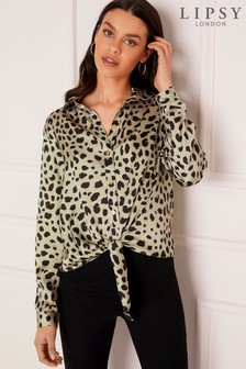 Lipsy Tie Front Blouse