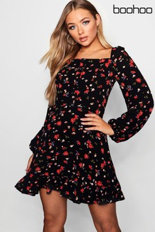 Boohoo Floral Skater Dress