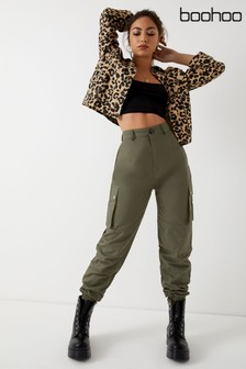 Boohoo Woven Pocket Cargo Trousers