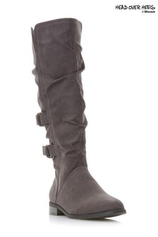 Head Over Heels Ring Strap Knee High Boots