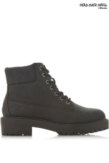 Head Over Heels Lace-Up Hiker Boots