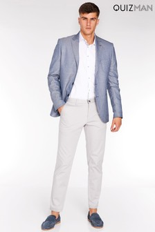 Quizman Check Two-Button Blazer