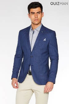 Quizman Check Two Button Blazer