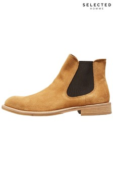 Selected Homme Suede Chelsea Boots