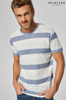 Selected Homme Knitted Striped T-Shirt