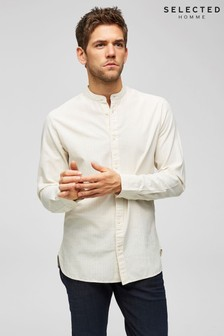 Selected Homme Chinese Collar Long Sleeve Shirt