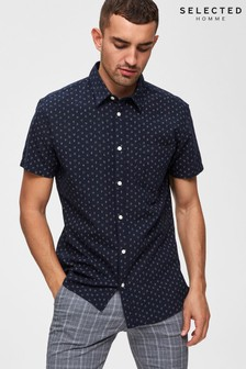 Selected Homme Printed Slim Fit Shirt