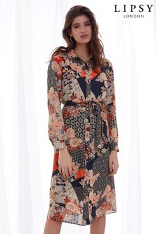 Lipsy Printed Midi Shirt Dress