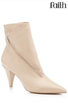 Faith Asymmetrical Zip Detail Boots