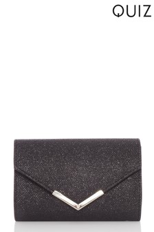 Quiz Shimmer Plated Envelope Bag