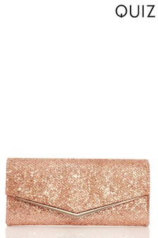 Quiz Disco Shimmer Plated Envelope Bag