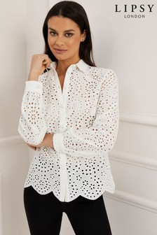 4f46aff4d09 Lipsy Broderie Shirt