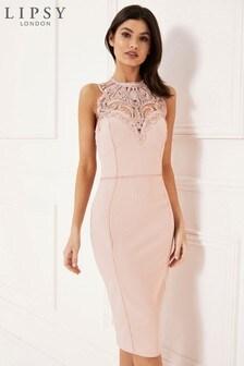 Lipsy Art Bodycon Midi Dress