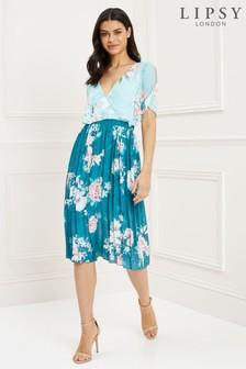 Lipsy Floral Print Midi Dress c17fb23b8