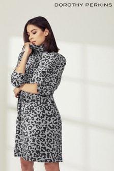 4c0b877ac6e Dorothy Perkins Animal Print Jumper Dress