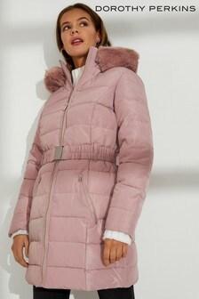 Dorothy Perkins Faux Fur Hood Puffer Jacket