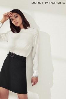Dorothy Perkins Bling Buckle Mini Skirt