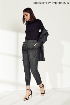 Dorothy Perkins Check Ankle Grazer Trousers