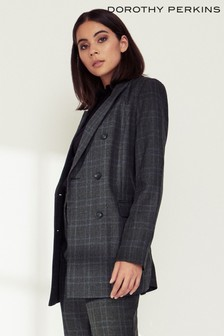 Dorothy Perkins Check Double Breasted Blazer