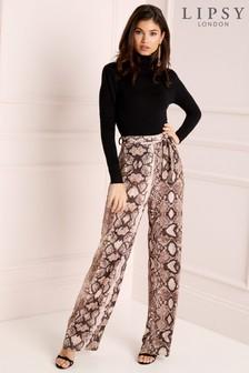 Lipsy Snake Print Wide Leg Trouser