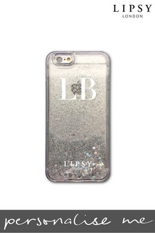 Personalised Lipsy Silver Glitter Phone Case By Koko Blossom