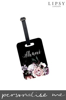 Personalised Lipsy Amber Floral Print Luggage Tag By Koko Blossom