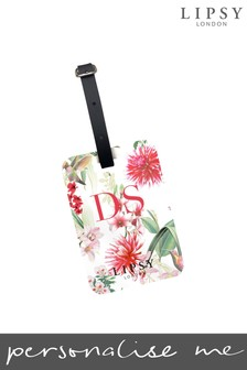 Personalised Lipsy Amy Floral Print Luggage Tag By Koko Blossom