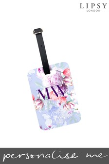 Personalised Lipsy Tori Floral Print Luggage Tag By Koko Blossom