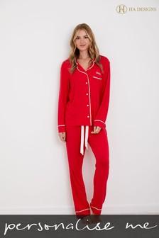 Personalised  Long Sleeve Pyjama set by HA Designs