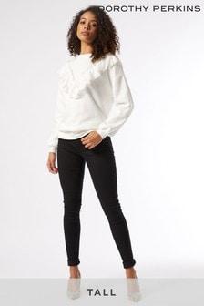 Dorothy Perkins Tall Lace Trim Sweat Shirt