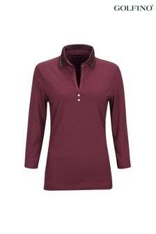 Golfino Sun Protection 3/4 Sleeve Ladies Golf Polo Shirt