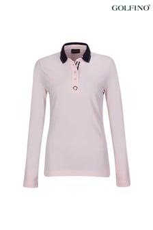 Golfino Silver Touch Long-Sleeve Ladies Polo Shirt